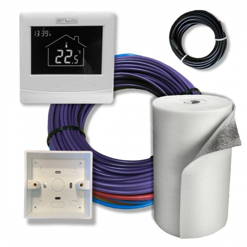 Kit full de instalación 300w ( hasta 3 m2 ) con termostato wifi programable y aislante isolant de 10mm.